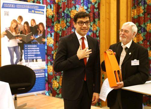 Staatsekretär Prof. Dr. Salvatore Barbaro und Präsident Karl Wolff