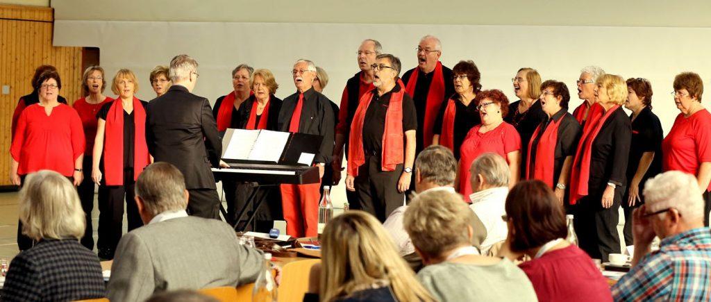Musikalische Begrüßung durch die Sacropops Waldalgesheim