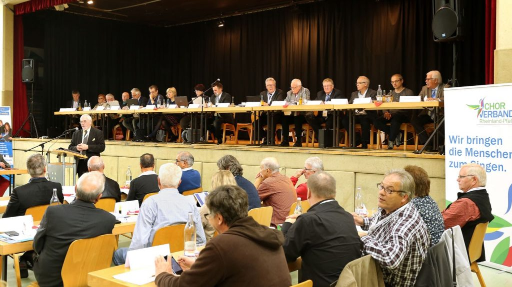 Das Präsidiums des Chorverbandes Rheinland-Pfalz