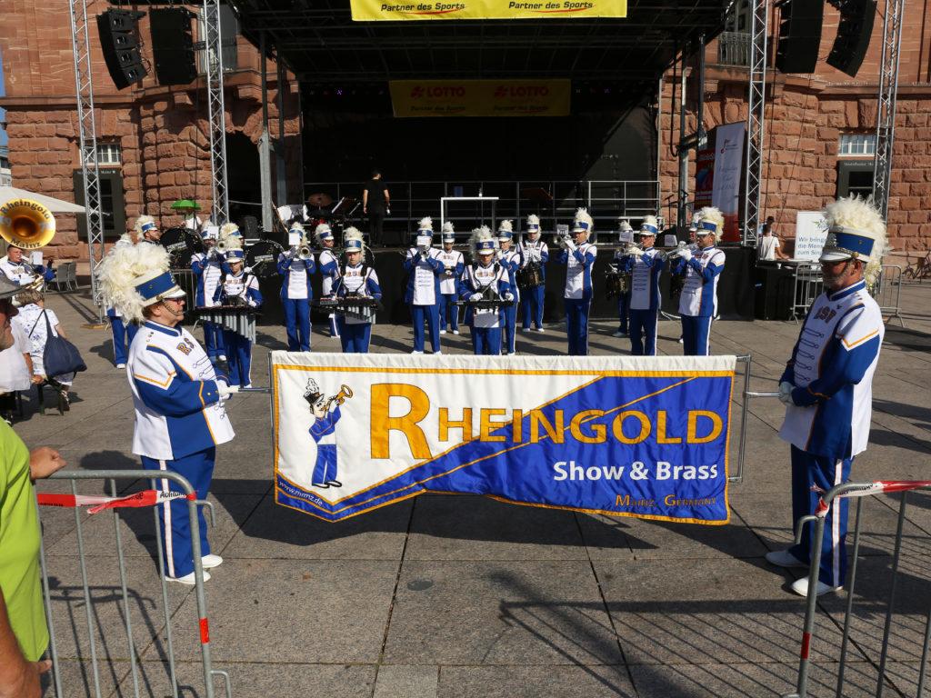 Landes-Chorfest 2019 - Eröffnung durch die Marchingband Rheingold